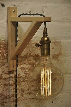 wall sconce brass birch light l industrial retro vintage solid ebay