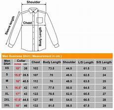 Mens Business Shirt Size Chart Size Chart Sin Mue Mue Pte Ltd
