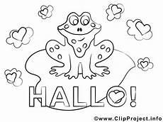 frosch hallo ausmalbilder f 252 r kinder kostenlos ausdrucken