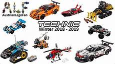 lego technic 2018 lego technic winter 2018 2019 compilation of all sets