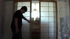 panneaux japonais coulissants installation de panneaux coulissants japonais shoji