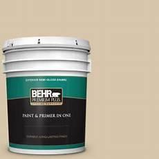 behr premium plus 5 gal ecc 54 1 new khaki gloss enamel exterior paint and primer in one