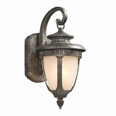 shop galaxy 14 5 in h antique silver outdoor wall light at lowes com