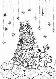 ausmalbilder erwachsene weihnachtsbaum pin auf chalk