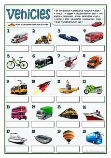 worksheets on vehicles 15217 vehicles worksheet free esl printable worksheets made by teachers