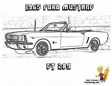 Coloring Sheets Mustang Convertible Pages