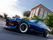 Car Nissan Datsun 240Z Blue Cars Motion Blur