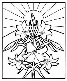 easter lilies coloring page crayola