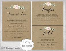 rustic wedding invitation templates diy quot rustic flowers