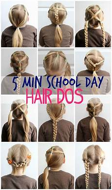 5 minute school day hair styles make up nails beauty