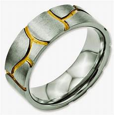 unique mens wedding rings two colour gold