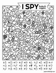 free printable i spy game fruits veggies paper trail design