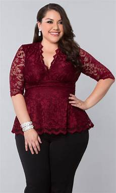 Plus Size - s plus size tops linden lace top by kiyonna clothing