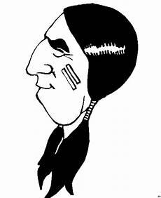 einfacher indianerkopf ausmalbild malvorlage comics