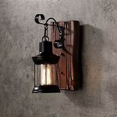 Styles Vintage Retro Indoor Outdoor Wall by Retro Industrial Cottage Style Metal Clear Glass Lantern 1