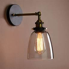 vintage industrial country style wall sconce light wall l with glass shade ebay