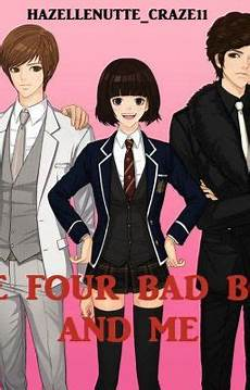 the four bad boys and me characters wattpad