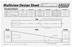 Co2 Car Designs Blueprints by Science Of Speed 2 Multiview Design Sheet W41685