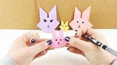 Osterhasen Basteln Aus Papier - origami osterhasen gesicht einfach falten osterhasen