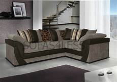 new lush corner sofa in jumbo fabric with leather match