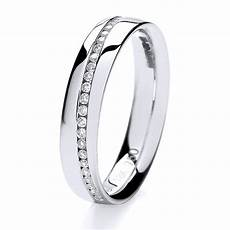 18ct white gold crossover diamond wedding ring hockley jewellers