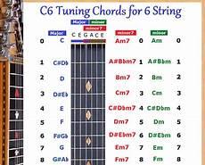metal guitar tuning c6 chord chart for 6 string steel dobro guitar ebay