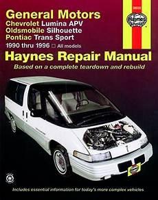 free car manuals to download 1993 oldsmobile silhouette transmission control 1990 1996 chevrolet lumina apv silhouette trans sport haynes manual