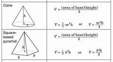 1 1 volume of pyramids and cones mfm1p grade 9 applied