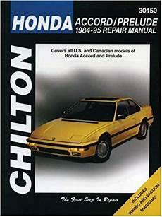 old cars and repair manuals free 1984 honda cr x security system honda accord and prelude 1984 95 workshop manual sagin workshop car manuals repair books