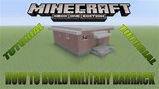 minecraft xbox edition tutorial how to build military barrack youtube