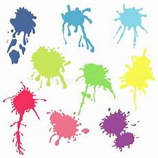 collection of watercolor paint splash vector of color