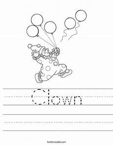 clown worksheet twisty noodle