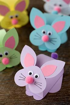 paper bobble bunny craft for paskalya elişleri