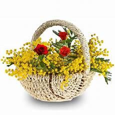 fiori per festa della donna cesto di mimosa invio fiori con le viaggiano