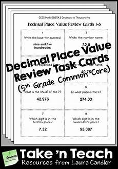 place value worksheets 5th grade with decimals 5362 decimal place value task cards 5th grade common decimal places