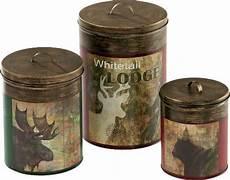 rustic kitchen canister sets vintage metal three canister set zoom cabela s 1