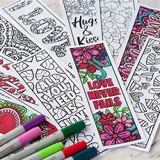 love coloring bookmarks set of 12 printable bookmarks to