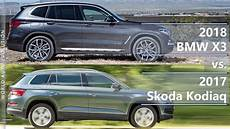 2018 bmw x3 vs 2017 skoda kodiaq technical comparison