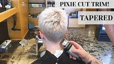 pixie cut trim at rudy s barbershop clippers tapered fade haircut youtube