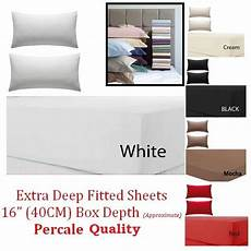 extra deep fitted sheets egyptian cotton single 4ft small double king super king ebay