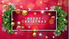 merry christmas illustration with holiday light garland download free vectors clipart