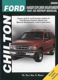 motor repair manual 1991 ford e series user handbook ford ranger explorer and mountaineer 1991 99 chilton total car care series manuals ford