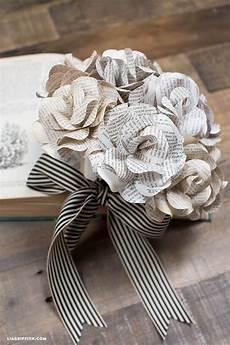vintage book page flowers crafting diy book page