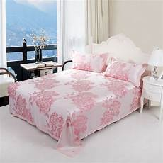 new 100 bamboo fiber 3pcs sheet full queen and king size pink peony bedding in bedding