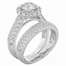 halo 2 piece 925 sterling silver wedding engagement bridal