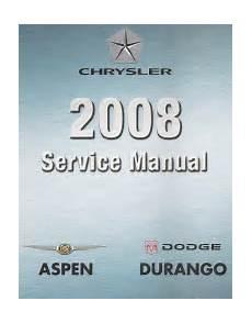 online car repair manuals free 2008 dodge durango regenerative braking 2008 dodge durango chrysler aspen hb hg service manual 4 volume set