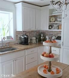 Kitchen Brick Backsplash Gracie Blue Diy Whitewash Brick Backsplash And