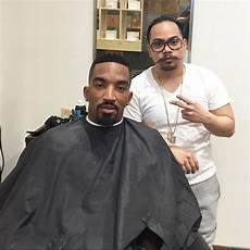 cleveland cavaliers j r smith s barber takes us behind the of player s unique hairstyle