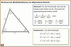 trigonometrie erkl 228 rung mit formeln und beispielen