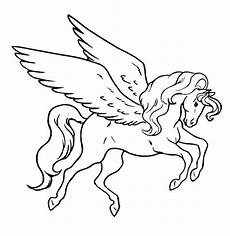 Ausmalbild Einhorn Fliegend Unicorn Flying Coloring Page For Coloring